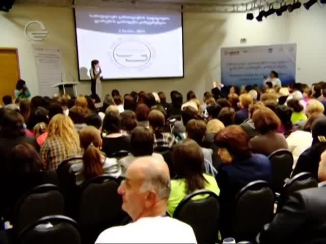 TV Imedi, Marina Ushveridze, Civics Teachers' Forum, May 3, 2014.