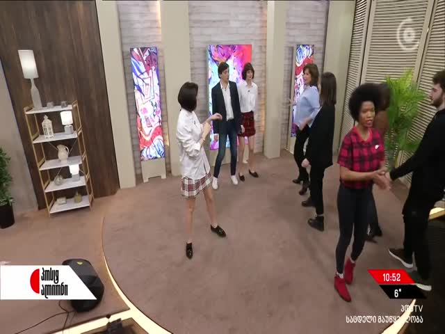 """Bachata"" dance by MT civic education students in a TV studio"